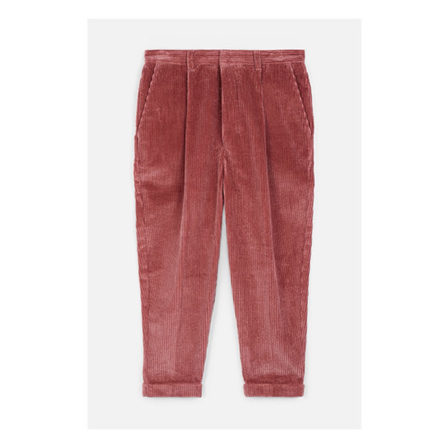 Oversized Carrot Fit Trousers Pink