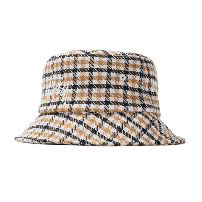 Big Logo Check Plaid Bucket Mustard