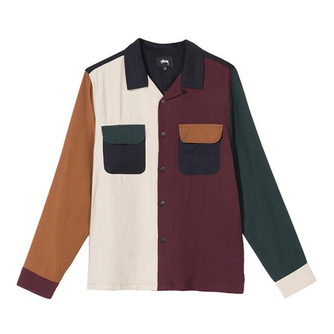 Color Block Rayon Shirt Multi