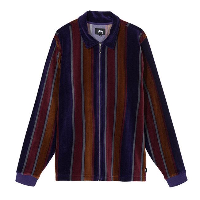 Roland Stripe LS Full Zip Purple