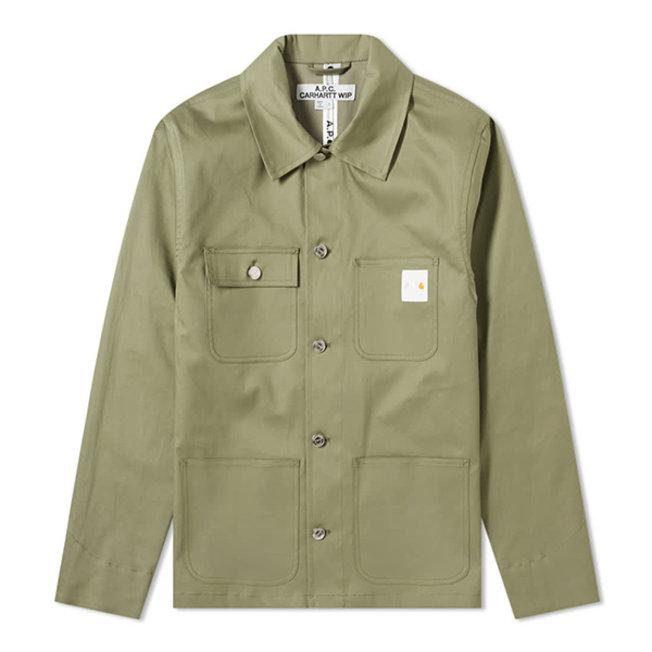 A.P.C. x Carhartt Army Jacket Mishiguene Khaki