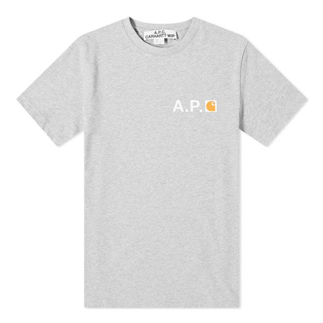 A.P.C. x Carhartt Fire Tee Grey