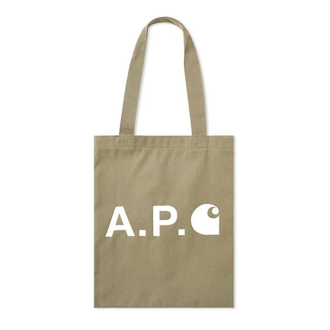 A.P.C. x Carhartt Alan Totebag Khaki