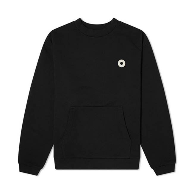 Slogan Pocket Sweatshirt Black