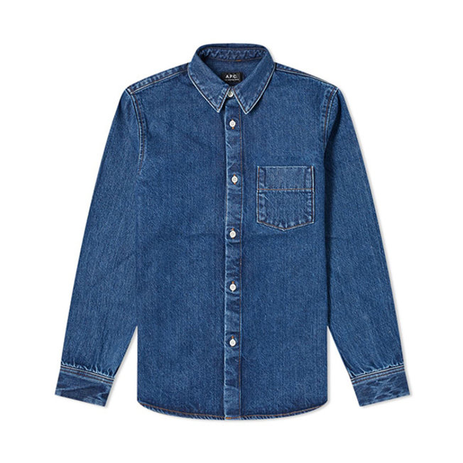 Victor Denim Shirt Washed Indigo