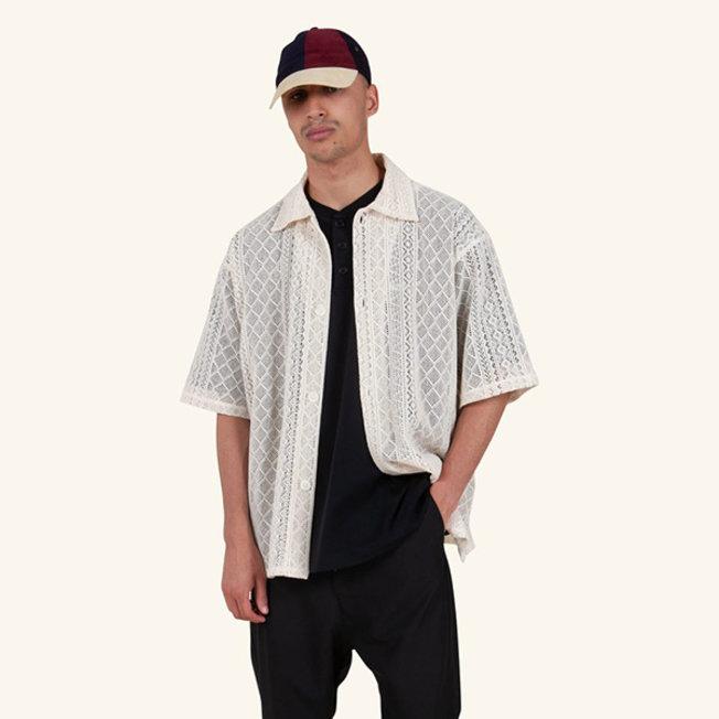 DDM Laced Oversized Shirt Beige