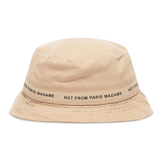 DDM Slogan Bucket Hat Beige