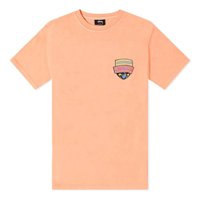Association Pig Dyed Tee Neon Orange