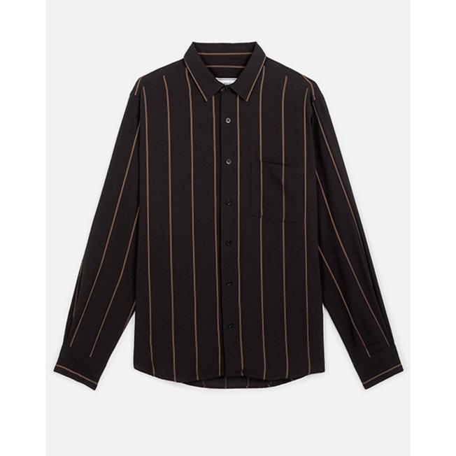 AMI Striped Summer Fit Shirt Black