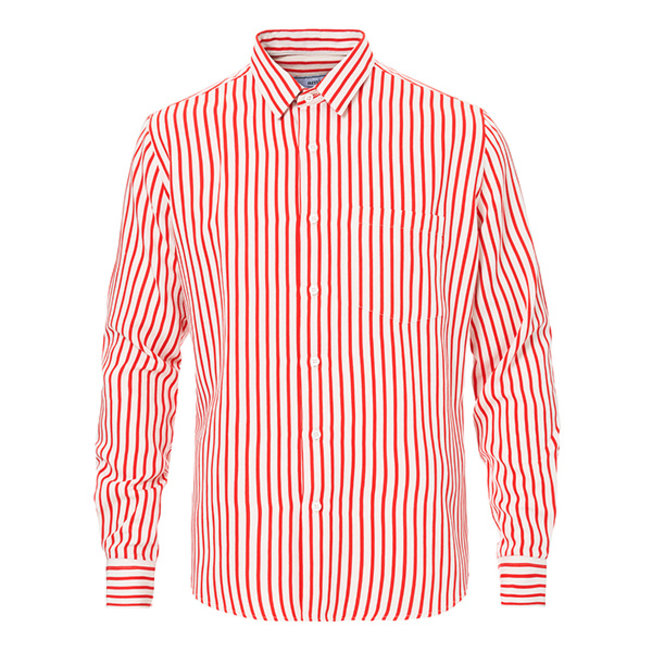 AMI Summer Fit Striped Red Shirt
