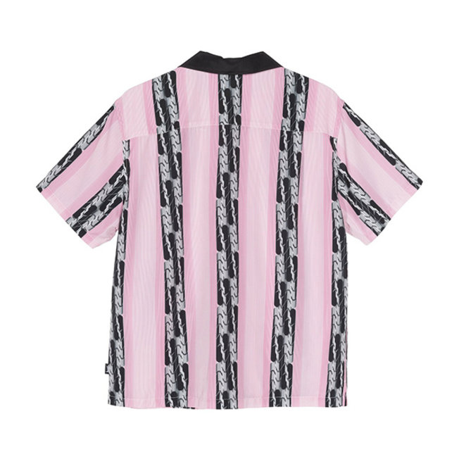 Deco Striped Shirt Pink