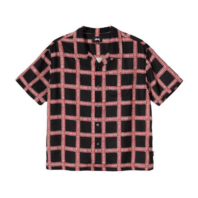 Hand Drawn Plaid Shirt Black