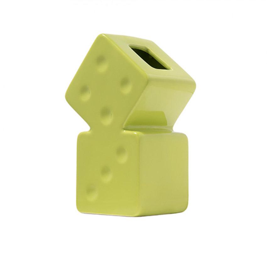 Stussy Dice Ceramic Vase Lime
