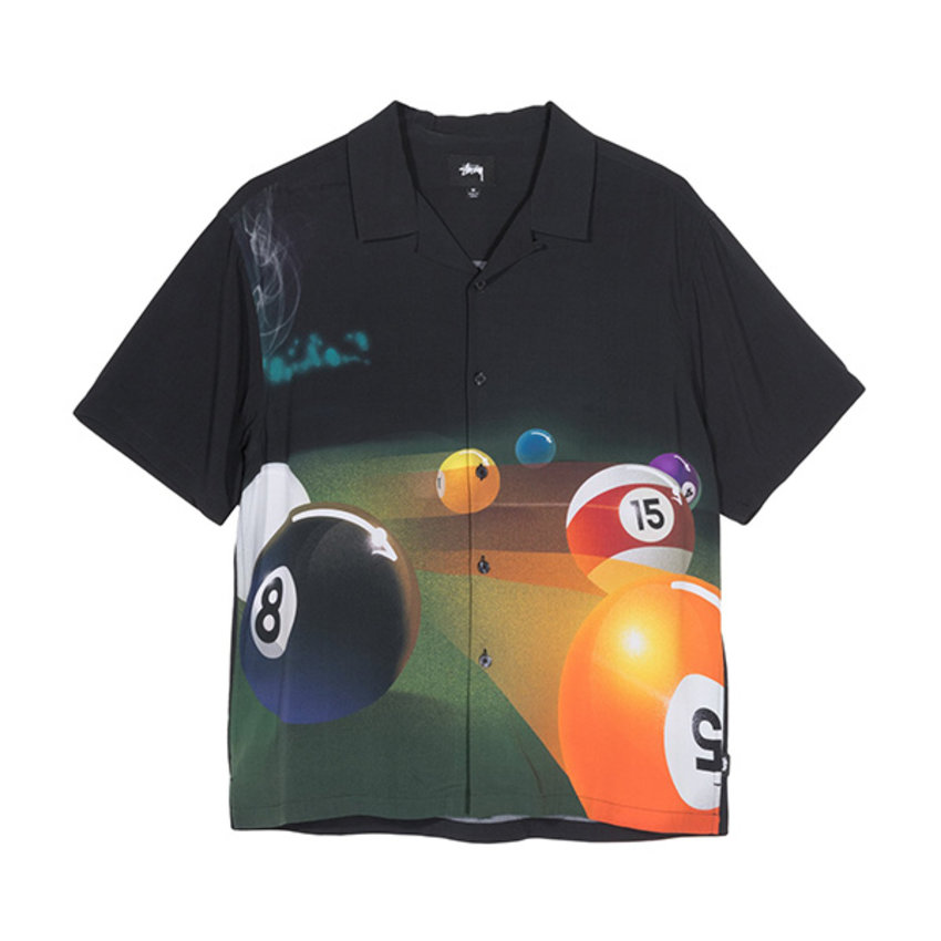 Stussy Pool Hall Shirt Black