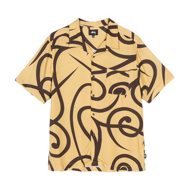Tribal Pattern Shirt Mustard
