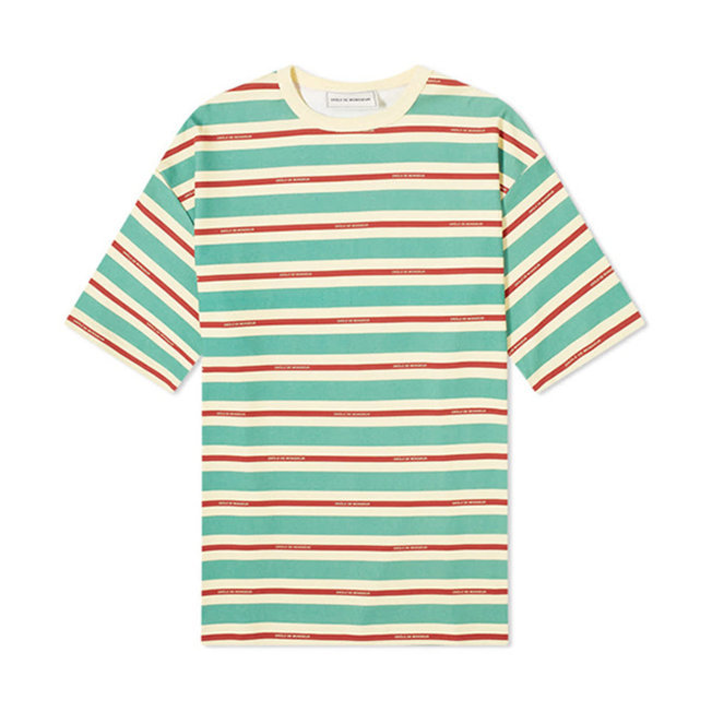 Vintage Striped Tee Loose Fit Green