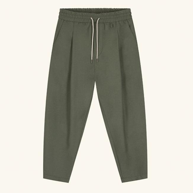 Wool Cropped Pants Kaki