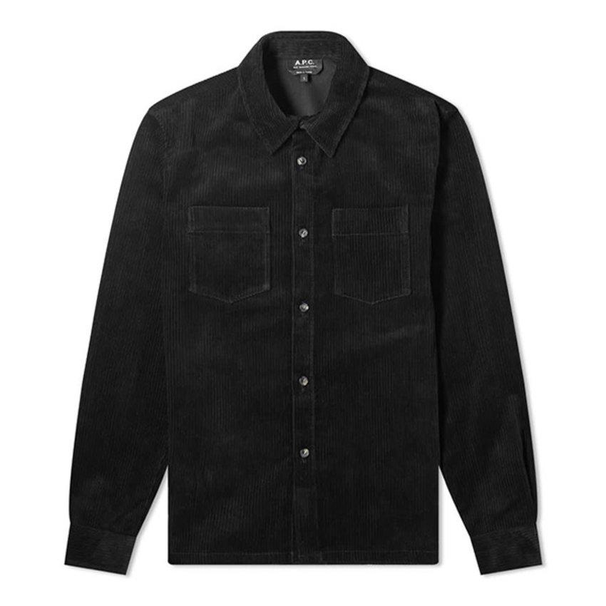 A.P.C. A.P.C. Joe Shirt Rib Black