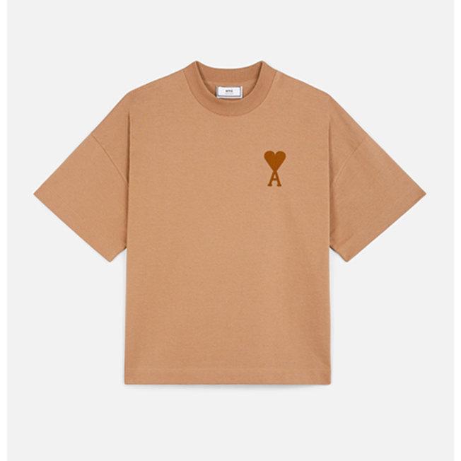 AMI Oversized Fit T-Shirt  Beige