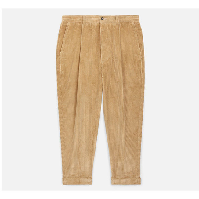 AMI Carrot Fit Corduroy Trousers Beige
