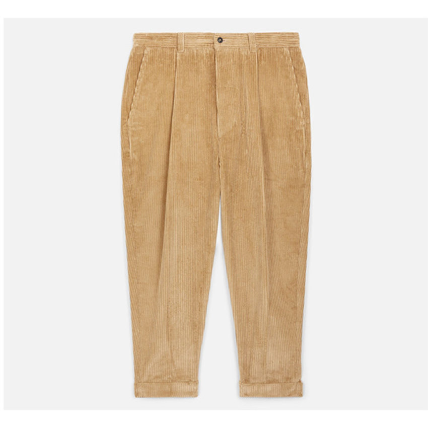 AMI Paris AMI Carrot Fit Corduroy Trousers Beige
