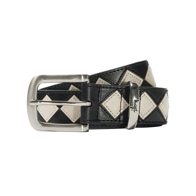 Argyle Stitch Leather Belt