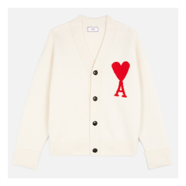 AMI Oversize Cardigan Off White