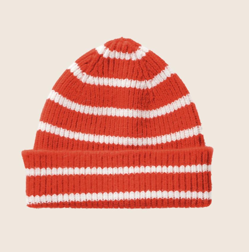 Le Bonnet Le Bonnet Beanie Crimson Stripe