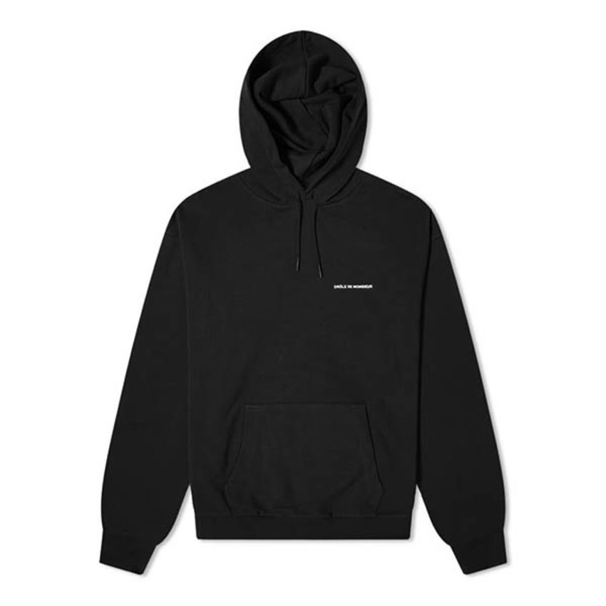 Drole De Monsieur DDM Slogan Embroidered Hoodie Black