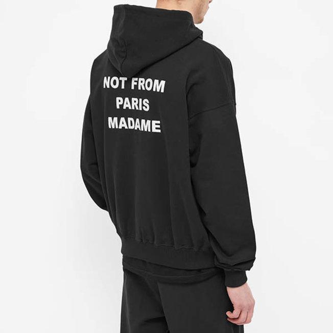 DDM Slogan Embroidered Hoodie Black