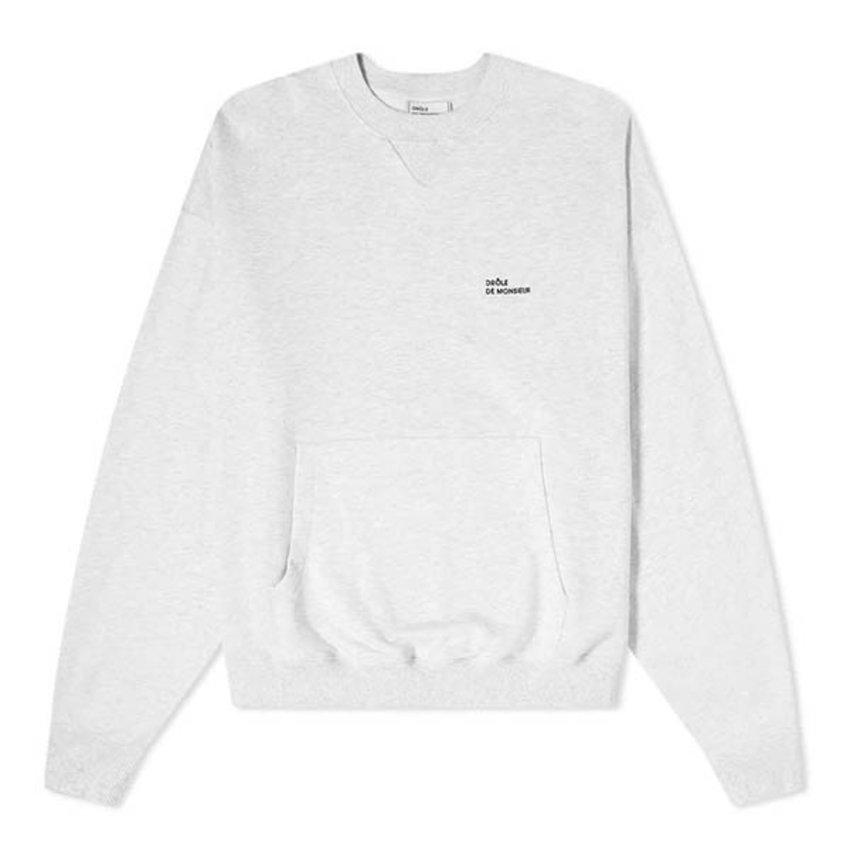 Drole De Monsieur Classic Sweatshirt Grey