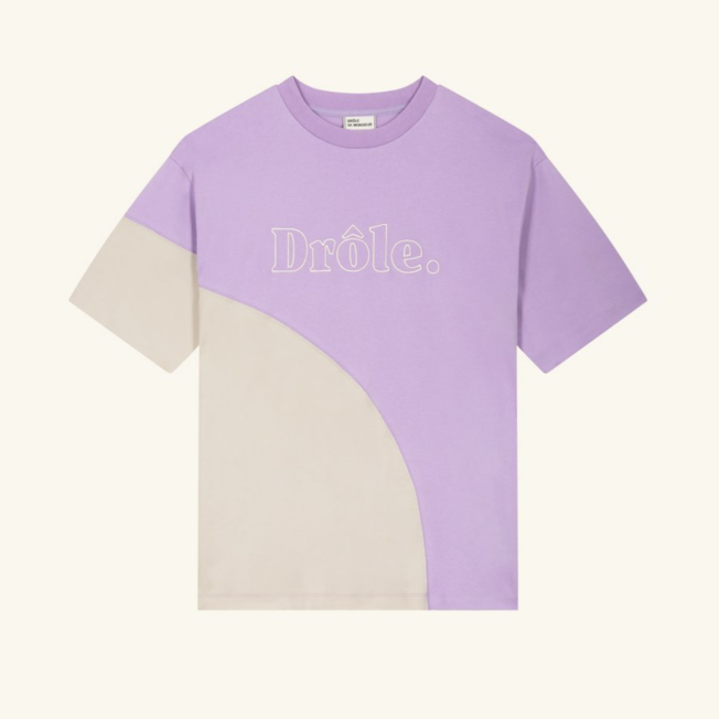 Drole Embroidered Tee Purple