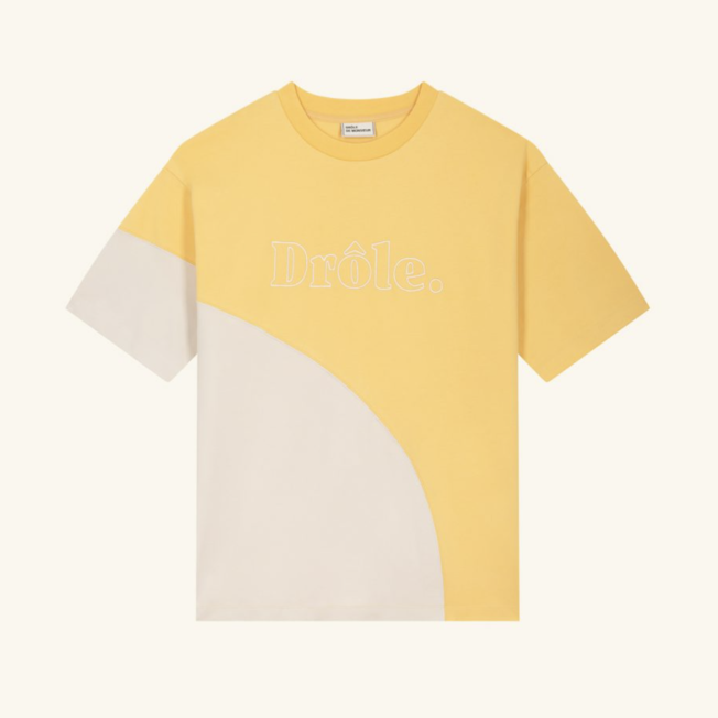Drole Embroidered Tee Yellow