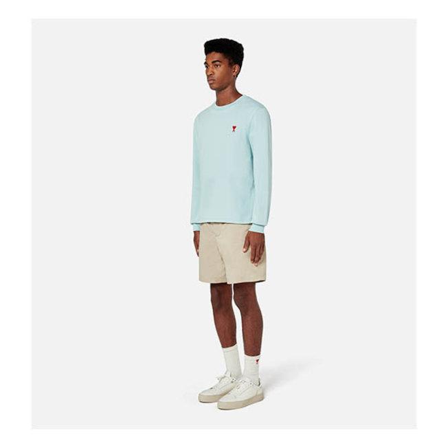 AMI Long Sleeve T-Shirt Aqua