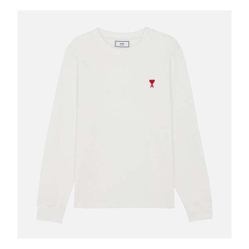 AMI Paris AMI Long Sleeve T-Shirt White