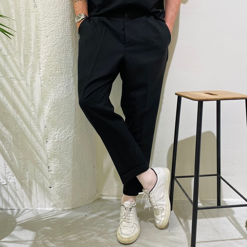 AMI Paris AMI Carrot Fit Trouser Black