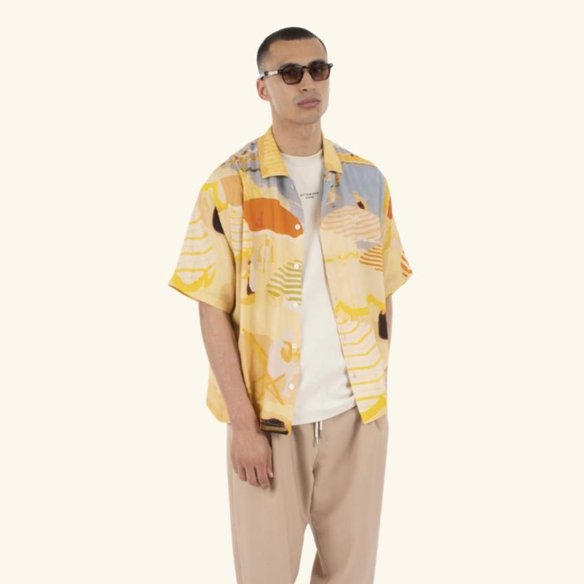 Drole De Monsieur Beach Riviera Shirt Beige