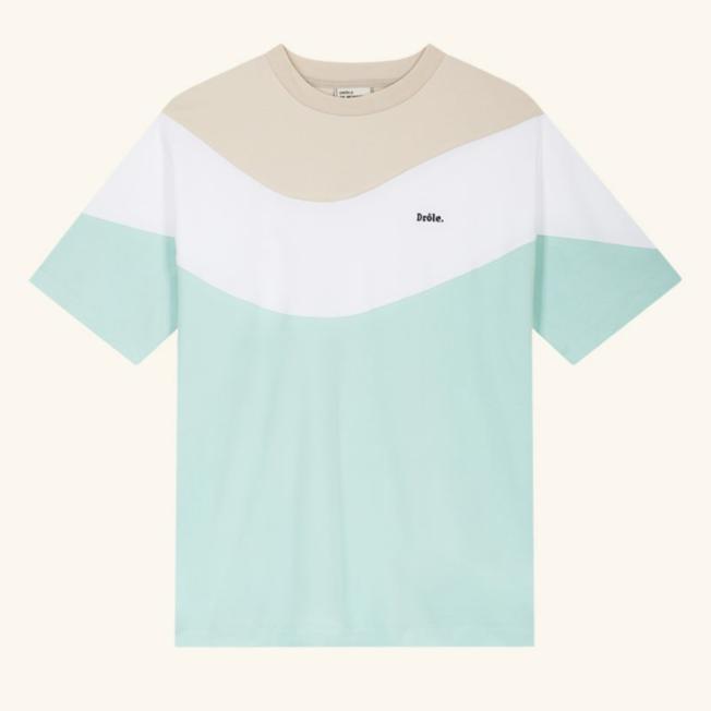 Drole Wave T-shirt Light Green