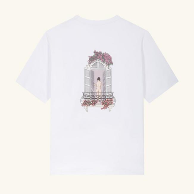 Balcony Graphic T-Shirt White