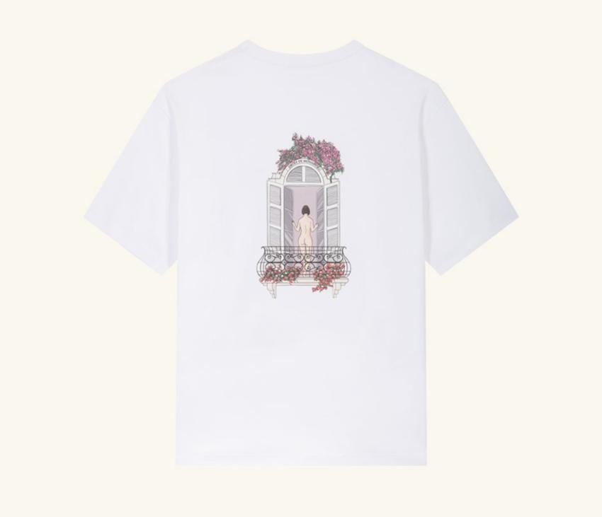 Drole De Monsieur Balcony Graphic T-Shirt White
