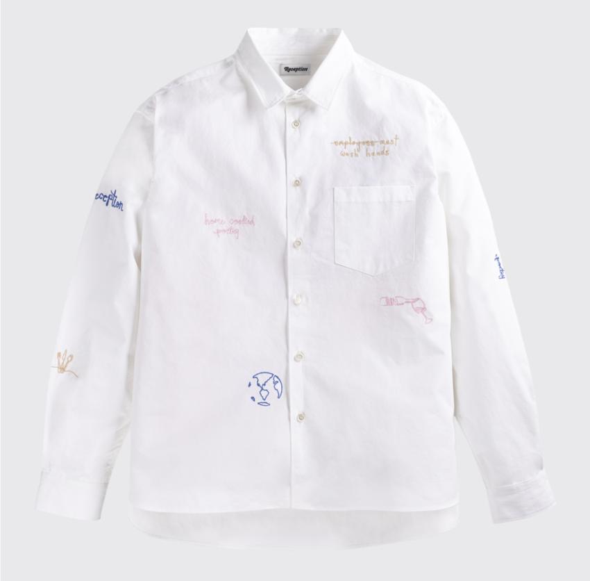 Reception Loose Financial Shirt White
