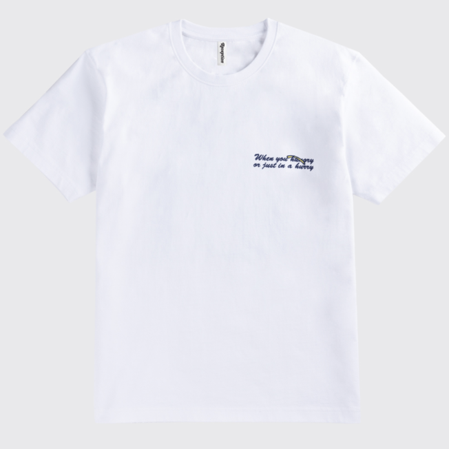 SS Tee Food For Thought White