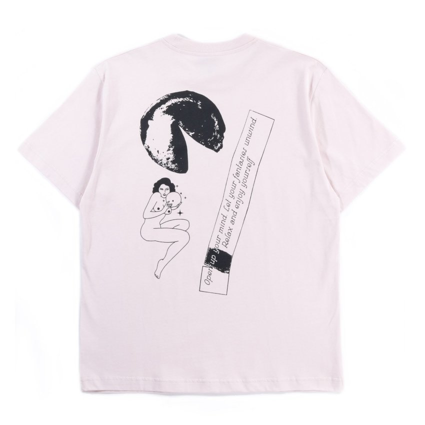 Carne Bollente The Future Is In Your Mouth Tee Grey Pink