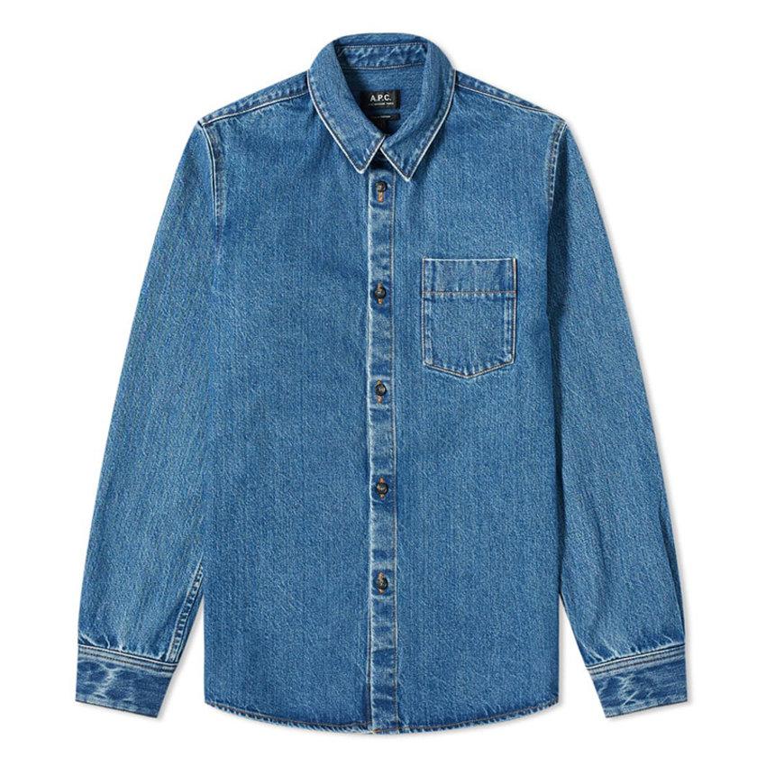 A.P.C. A.P.C. Victor Denim Overshirt Blue