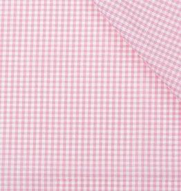Boerenbont ruit stof, roze 2 mm
