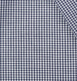 Boerenbont ruit stof, marineblauw 2 mm