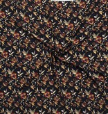 Nooteboom Textiles Viscose Crepe Yoryu Print Flowers Blue