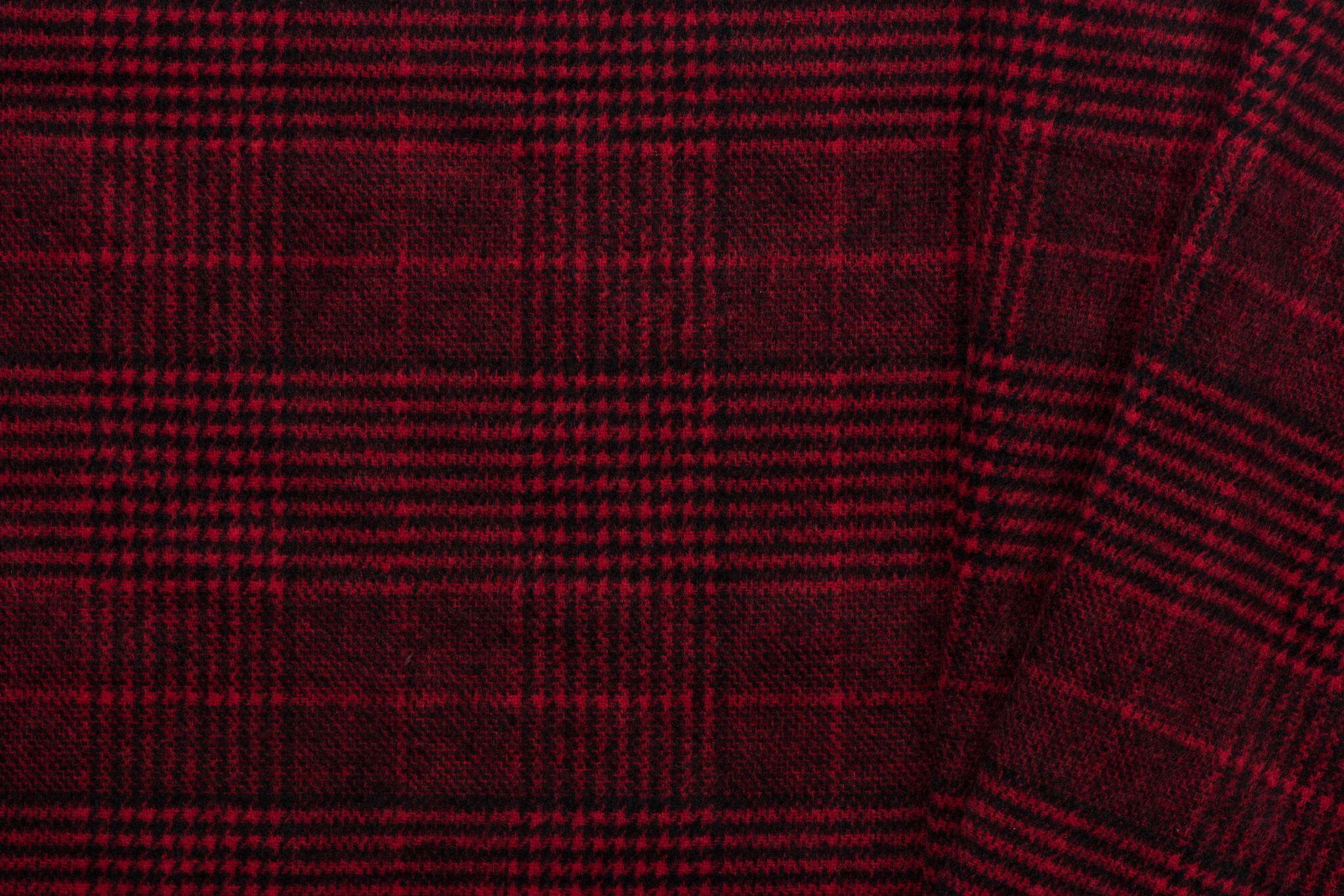 Nooteboom Textiles Poly Wool Jacquard Checks Red