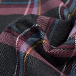 Schotse Ruit / Tartan Check Stretch Antraciet Melange
