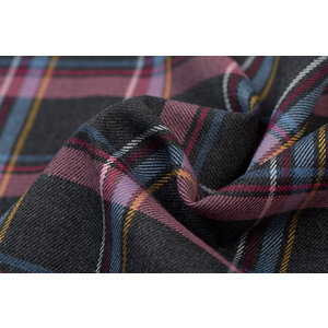 Schotse Ruit / Tartan Check Stretch Antraciet Melange